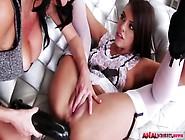 Glamorous Milf Veronica Ass Fucks Pretty Lesbian Maid Adriana An