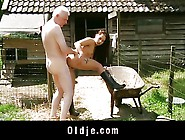Viril Old Farmer Fucks Peasant Teen With Airs Of Diva