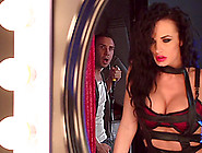 Lingerie-Clad Brunette With Big Tits Enjoying A Hardcore Ffm Thr