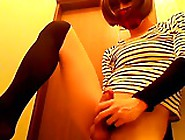 Teen Japanese Cd Cums Hard With Vibrator In The Ass