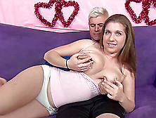 Great Sex With The Naturally Busty Babe Alex Chance