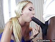 Blonde Whore Sierra Nicole Sucked Her Black Man Big Cock