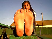 Sweaty Latina Feet