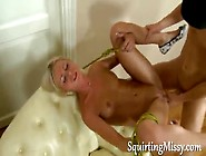 Tied Up Blonde Squirts Like A Hose