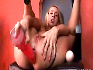Kelly Wells Fills Her Ass With Huge Dildos And Butt Plugs