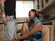 Horny Ebony Babysitter Gets Banged And Pumped Hard In The Kitche
