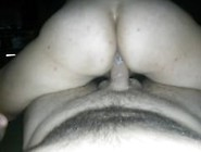 I Take His Huge Cock In My Ass And Ride It Deep