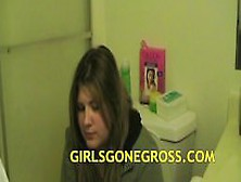 Two Big Girls Pooping On The Toilet