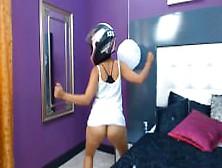 Camgirl motorcycle helmet dance 6