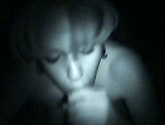Dirty White Whore In The Dark Sucking Really Big Dick On Cam