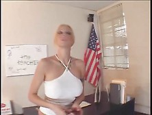 Throat Fucking A Hot Blonde With Big Fake Tits