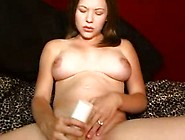 Pregnant Babe Plays With Dildo