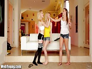 Webyoung Lesbians Initiate Teen Guitar Hero With Pussy Eating