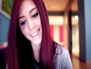 Webcam Cute Redhead Girl With Connected Toy