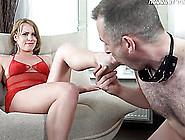 Marvelous Foot Fetish Femdom Diva Pissing On Her Guys Face