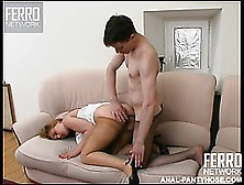 Both Ella And Her Fuckmate Wear Pantyhose As They Engage In Hard