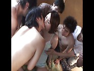 9 Month Pregnant Asian Woman Gangbang Creampie