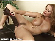 Solo Babe Rams Her Massive Dildo Deep In Her Warm Pussy