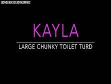 Leatherdyke. Cc Kayla Large Chunky Toilet Turd