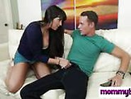 Hot Mommy Mercedes Carrera Unzips Guy's Pants And Swallows His M