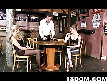 2 Bossy Bitched Roughly Fuck A Barman In The Public Toilet