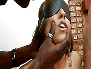 White Whore Stays On Her Knees And Sucks Black Cock @ Black Assa