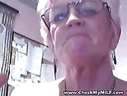 Horny Granny Is Showig Her Pussy To The Camera,  Because She Want