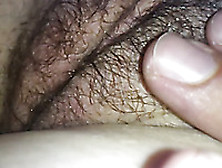 Close Up Solo Video With My Wife Fingering Her Hairy Pussy