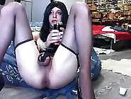 Vlada Sexy Trans Prolapse After Bottle On Webcam