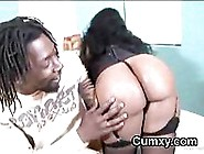Big Black Dong Guy Licking Busty Phat Butt Ebony Pussy