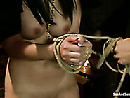 Slutty Busty Nun Gets Her Soaking Shaved Cunt Drilled From Behin