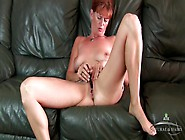 Sweet Mature Redhead And A Little Vibrator Get It On