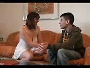 Horny Milf Seduced A Young Boy.