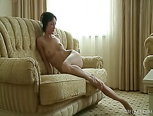 Adorable Brunette Is Showing Solo Skills
