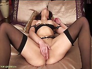 Seamed Black Stockings Are Sizzling Hot On A Solo Milf