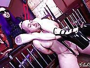 Femdom Goddess Fucks His Ass With Her Strap-On