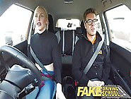 Fake Driving Instructor Gave A Hot Sex Lesson To His Blonde Clie