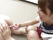 Japanese Sailor Suit Fingering A Guy's Anal