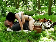 Girl Fucks Her Sugar Daddy At A Picnic In The Park