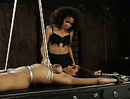 Bounded Black Babe Gets Spanked And Whipped By Her Ebony Mistres