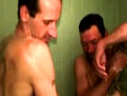 Gaystraight Mature Bears Shower Each Other