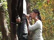 Bitch With Glasses Getting Fucked Hard In The Woods