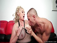 Granny With Big Sexy Tits Sucks A Dick