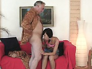 Crazy Old Boy Fucks Mouth And Juicy Pussy Of A Young Girl
