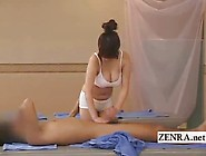 Busty Japanese Sauna Lady Oil Massage Becomes Hand