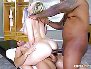 Kagney Linn Karter Is Taking A Black Dick In Her Ass While Sucki