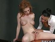 Femdom Mistress Jasmine Works Over Her Redhead Sub Slave Lola
