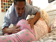 Palatable Blonde Teen Screwed Bad In A Missionary Position