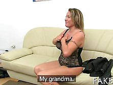 Blonde Milf Eaten Out By A Lesbian Agent