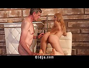 Spoiled Cute Teenie Fucking Old Cleaner After Having G Spot Tong